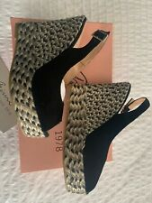 Size 7 Black Espadrille Wedges From Spain