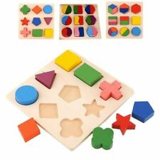 Kids Educational Puzzle Sets Wooden Geometry Wood Toys Baby Kids Early Learning