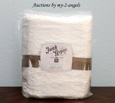 NEW Pottery Barn Teen JUNK GYPSY CROCHETED LACE Full/Queen Duvet IVORY *vintage