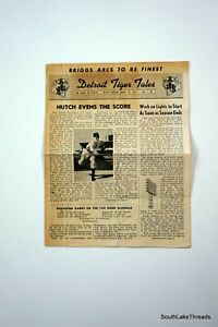 August 19th 1947 Detroit Tigers Tales Vol 1 Issue #3 Newsletter Rare
