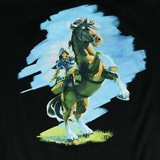 Legend of Zelda Breath of The Wild Nintendo Black Hooded Sweatshirt Sz XXL