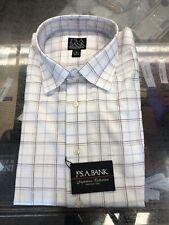 New Jos A Bank Dress Shirt Size XL White Check Pattern Cotton Q-984