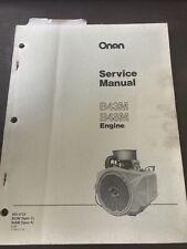 ONAN B43M 16HP B48M 18HP ENGINE SERVICE REPAIR MANUAL SHOP BOOK OVERHAUL Gas