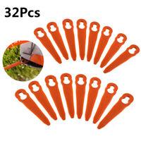 32 X Plastic Cutter Blades For Stihl PolyCut 2-2 FSA 45 Lawn Mower Trimmer Part