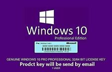 Windows 10 Pro | 32/64 (bit) | License key