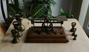 ANTIQUE SAMPSON MORDAN & CO of LONDON POSTAL SCALES + WEIGHTS