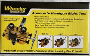 Wheeler Engineering Armorers Handgun Sight Tool Heavy Duty Aluminum Frame 710905