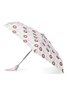"""TOTES NeverWet® Auto-Open Mini Purse Umbrella, 39"""" Colorful Donuts NEW"""