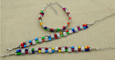 Reliable High Quality Tibet Silver Multicolor Jade Turquoise Bead Bracelet TN