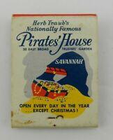 Vintage Matchbook Cover Pirate's House Restaurant Savannah Georgia