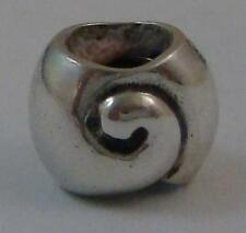 Genuine Retired Danish Pandora Silver Snail Charm 790114 925 ALE