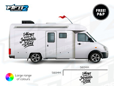 2 Sides Motorhome Travel Camper Van Graphics Stickers Decals For Mercedes VW T5