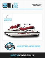 RFI RX DI GSX GSI HX SP XP SPX SEA DOO RED Seat Cover Skin 91 92 93 94 95 96 97+