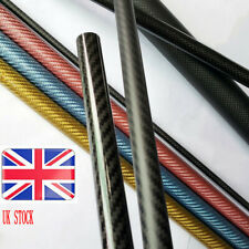 Colorful Ultralight Carbon Fiber Colorful Glossy Tubes OD 7/11/15MM L 500MM Pipe