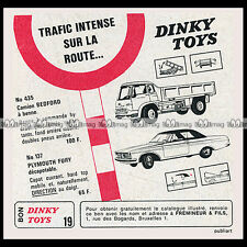 DINKY TOYS 1964 BEDFORD TK TIP 435 PLYMOUTH FURY 137 - Pub Publicité / Ad #D64