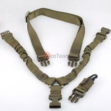 Army Green Tactical 1 One Single Point Bungee Rifle Gun Sling w/ QD Buckle