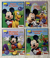 Lot of 4 Story Reader Me Reader Mickey Mouse Clubhouse Books Hardback  Disney Jr