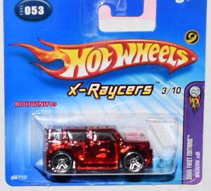 HOT WHEELS 2005 FIRST EDITIONS X- RAYCERS SCION XB #053 SHORT CARD W+
