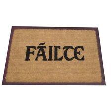 JVL Irish Gaelic Failte Welcome Natural Coir Entrance Door Mat 40cm x 60cm NEW