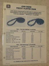 1993 JOHN DEERE PRECUT MAX-EMERGE PLANTER CHAIN REFERENCE CHART