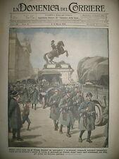 VIENNE TRANSPORT 1 MILLIARD ET DEMI VERS TRIESTE LA DOMENICA DEL CORRIERE 1919