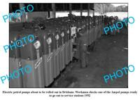 OLD 6 X 4 PHOTO AMPOL OIL COMPANY PETROL PUMPS BEING BUILT c1952