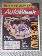 AutoWeek October 30 1995 Porsche 911 GT2, Pontiac Sunfire GT Coupe, BMW 328i