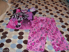 Disney's Minnie Mouse  2 PC Pajama Set Size 4/5 Girl's NEW FREE USA SHIPPING