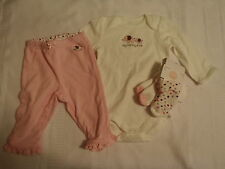 GYMBOREE Brand New Baby Elephant Girls 3-6 Month Pant Bodysuit Socks Outfit NWT