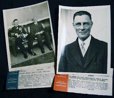 CIRCA 1930 VICE ADMIRAL VERNON HS HAGGARD BRITISH NAVY TWO PHOTOS
