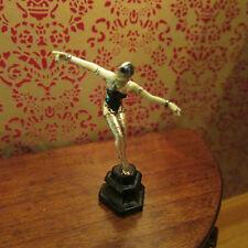 Artisan Bronze figure ~ Art Deco style ornament ~ Dollhouse Miniature ~ 1/12