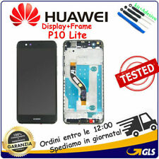 Display Touch Screen LCD Vetro + Frame Per Huawei P10 Lite WAS-LX1A WAS-LX1 NERO