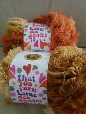 Lionbrand That 70s Yarn Lot Of 2 Skeins Groovy