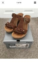 Excellent Gabor Rodeo Brown Leather Cork Sandals UK 6 G wide Fit cost £69.95