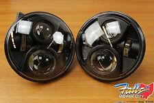 2007-2017 Jeep Wrangler JK LED Head Lamp Headlamp Head Light Set Mopar OEM
