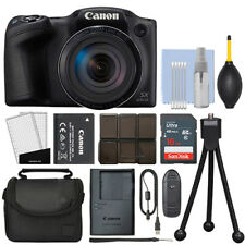Canon PowerShot SX430 IS 20MP Digital Camera 45x Optical Zoom Black + 16GB Kit