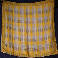 Vintage 1940's Abstract Geometric Silk Vera Neumann scarf (27 x 27)