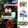 2020 Xmas Christmas Tree Hanging Ornament Family Ornaments Santa Claus Decor DIY