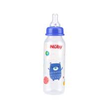 Baby Feeding 1167 1 Set Only 8oz Pack-of-2 Printed Non-Drip Bottle Nuby