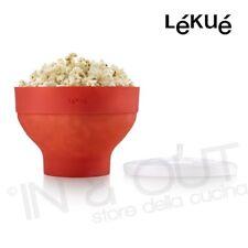 Popcorn Maker rosso in silicone per cottura microonde contenitore pop corn LEKUE