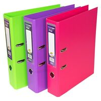 3 x Strong Polypropylene A4 Lever Arch Files 70mm Paper Storage Folders Binders