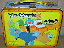 Vintage The Beatles 1968 Yellow Submarine Lunch Box Original