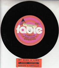 "JOHNNY CHESTER  My Ding-A-Ling 7"" 45 rpm vinyl record + juke box title strip"