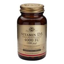 Solgar Vitamin D3 (Cholecalciferol) 4000IU (100ug) 120 Vegetable Capsules