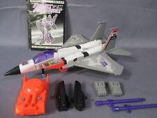 "Transformers G2 ""STARSCREAM"" WORKS *Generation 2* 1993 Hasbro Decepticon"