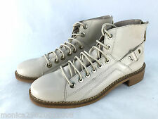 ZARA LEATHER ANKLE BOOTS LACE UP SHOES UK5/EUR38/US7.5