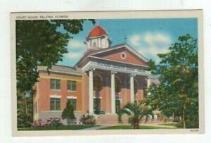 FL Palatka Florida 1946 linen post card - Court House