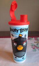 Tupperware NEW Angry Birds BOMB Black Bird Tumbler 16 oz  Flip Top Spout SEAL