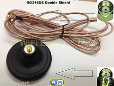 WiFi Antenna Magnetic Base RP-SMA 10 Foot RG316DS Extension Cable ships from USA
