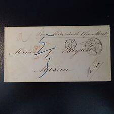 1860 LETTRE POUR MOSCOU MARQUE DÉCHANGE F./33 PORT 5/3 AUS FRANKREICH PER AACHEN